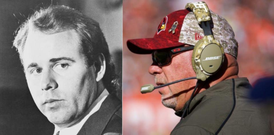 Bruce Arians in 1983 compared to now.