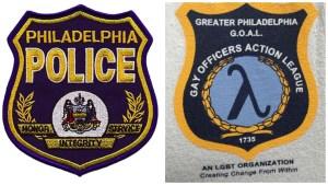 Left: Philadelphia Police badge Right: GOAL seal