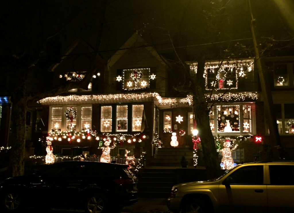A home decorated in Mayfair for the holidays.