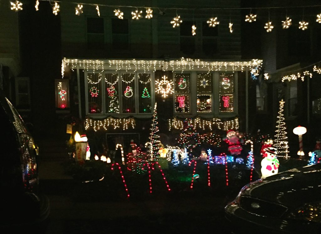 A home decorated for Christmas in Mayfair.