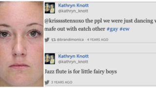 Kathryn Knott testified in court that she did not use any gay slurs the night she was involved in an assault against a gay couple. Past of tweets of hers that include gay slurs were permitted for use as evidence in the trial.