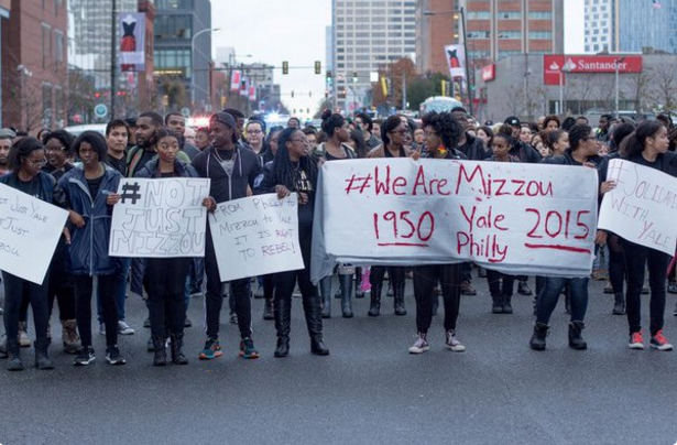 Black students protest