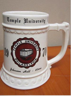 Temple beer stein