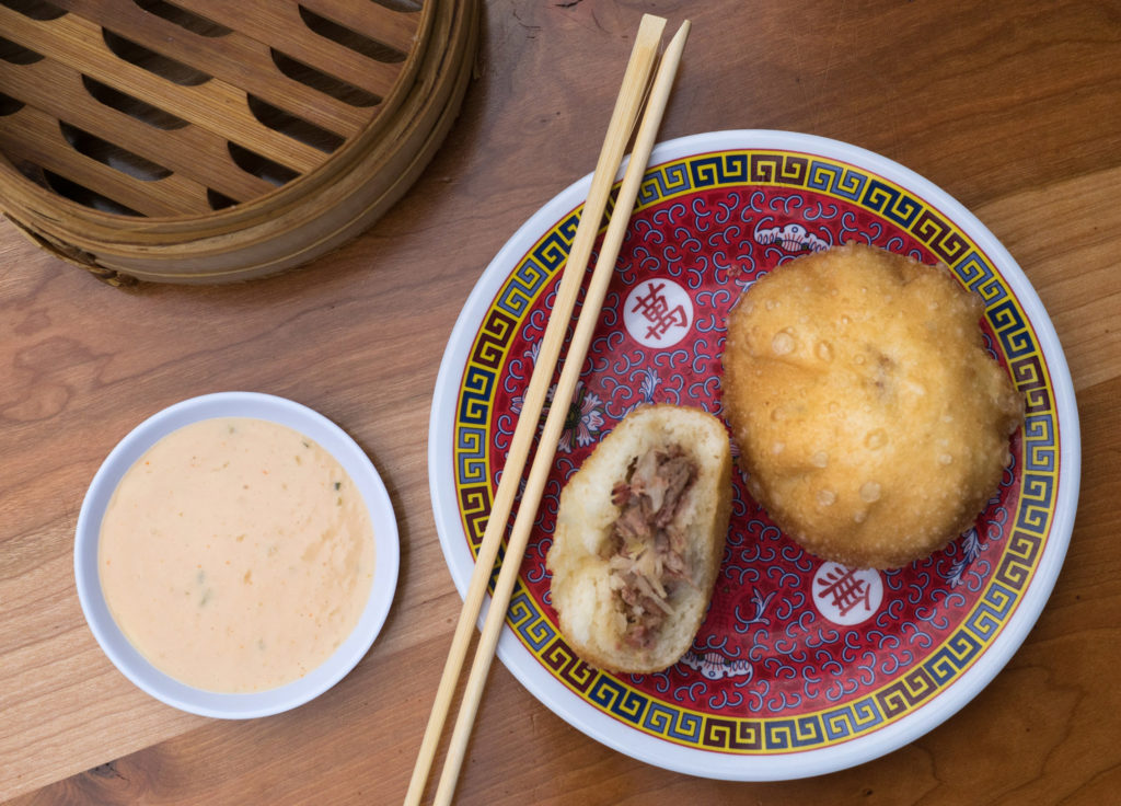 Pastrami bao buns at Bing Bing