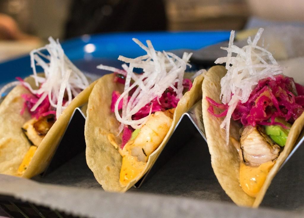 Fish tacos at Buena Onda