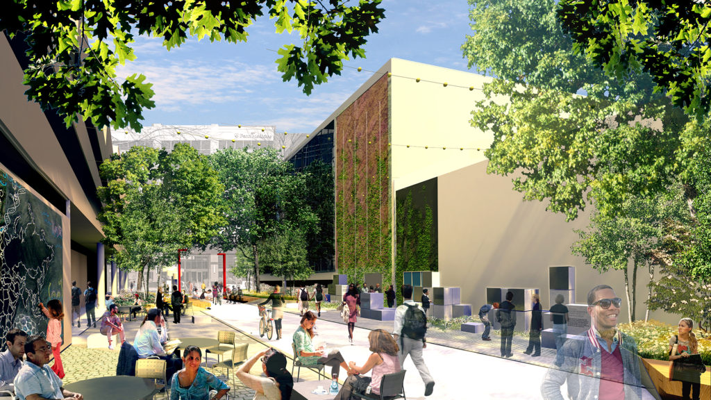 A rendering of the new Innovation Plaza.
