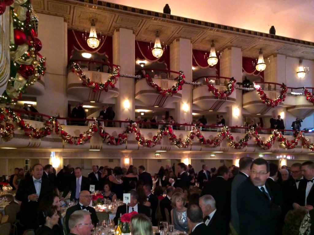 Side view of the ballroom during PA Society dinner. Some of the most prominent people get the balcony seats.