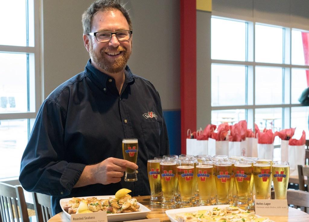 Victory co-founder Bill Covaleski in his new Parkesburg brewpub
