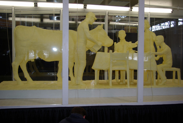 The 2010 butter sculpture representing dairy families.