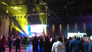 Guests mingle at Kenney's Inaugural Block Party at the Pennsylvania Convention Center.