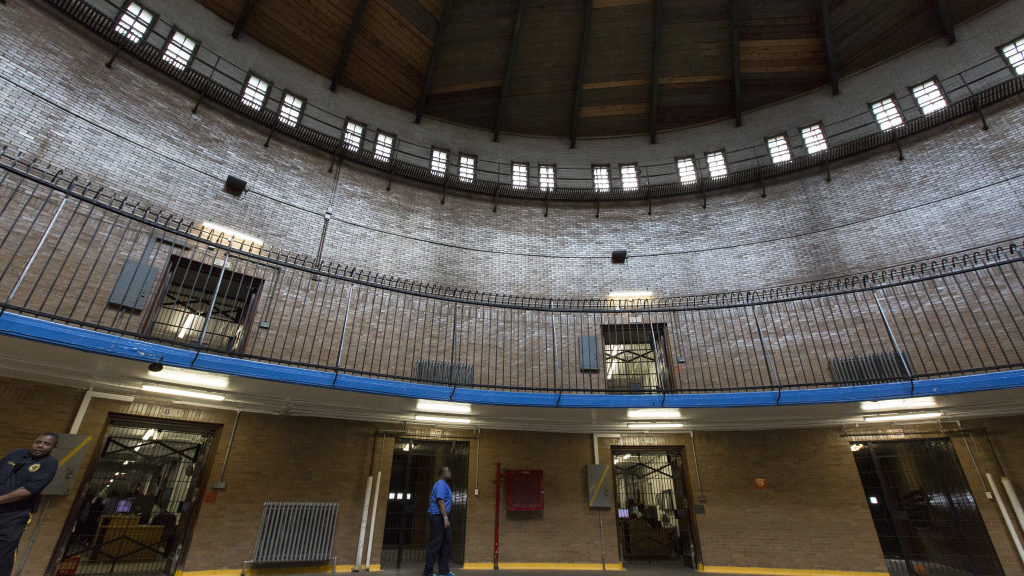 One of the main rotundas in the Philadelphia House of Corrections