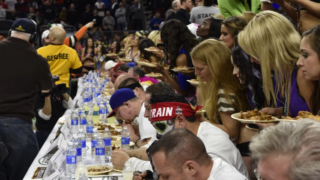 Eaters during Wing Bowl 23.