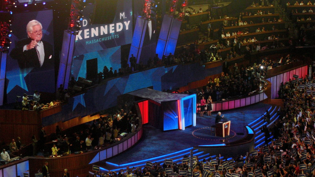 Ted Kennedy speaks at the 2008 DNC.