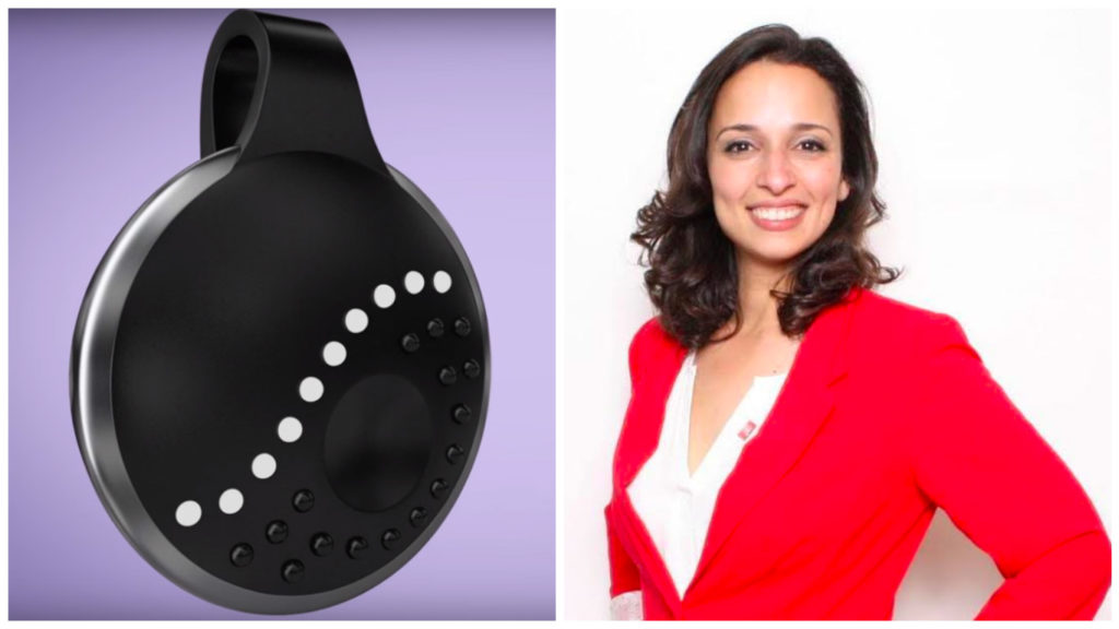 Left: ROAR for Good's first product, Athena. Right: Co-founder and CEO Yasmine Mustafa