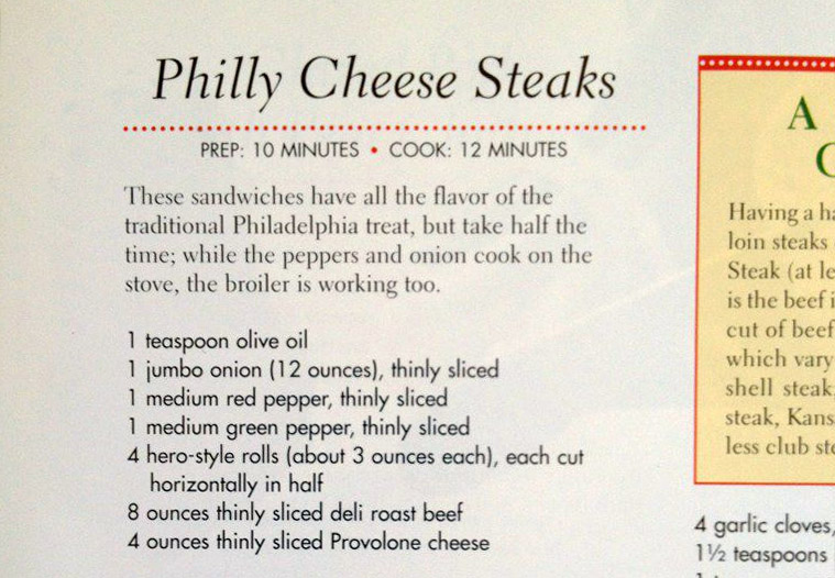 Good Housekeeping does not make good cheesesteaks