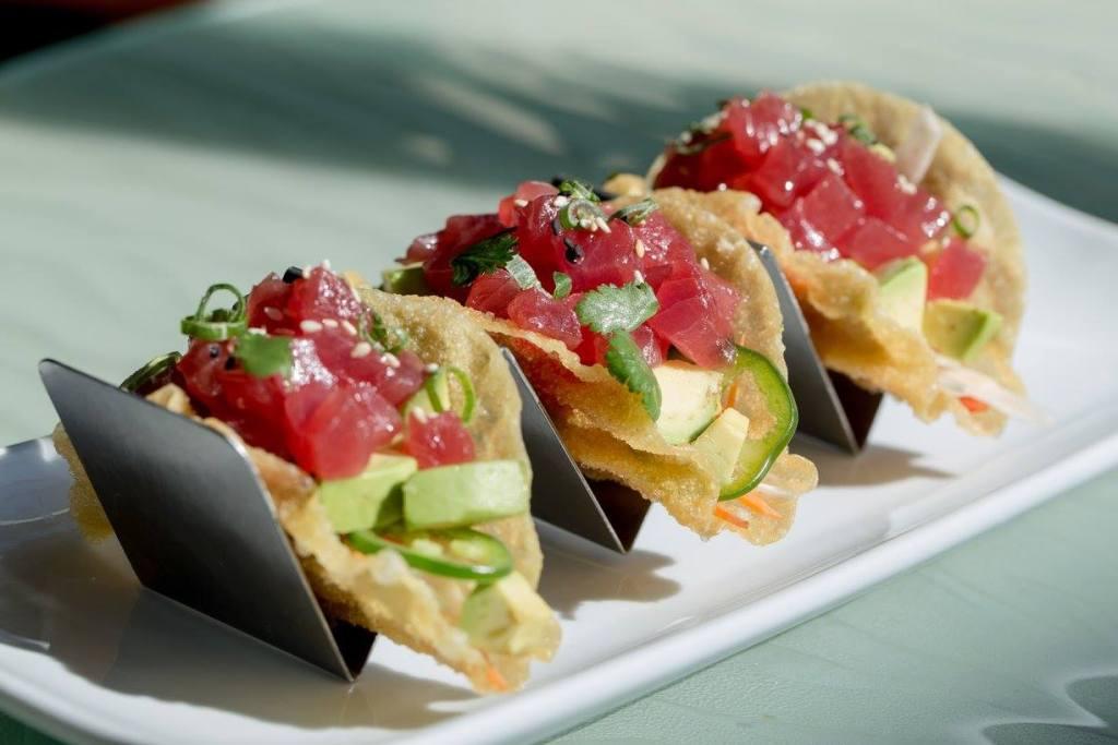 Ahi tuna tacos at SUGA
