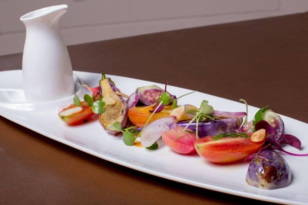 A SUGA dish called simply 'Eggplant and Tomato'