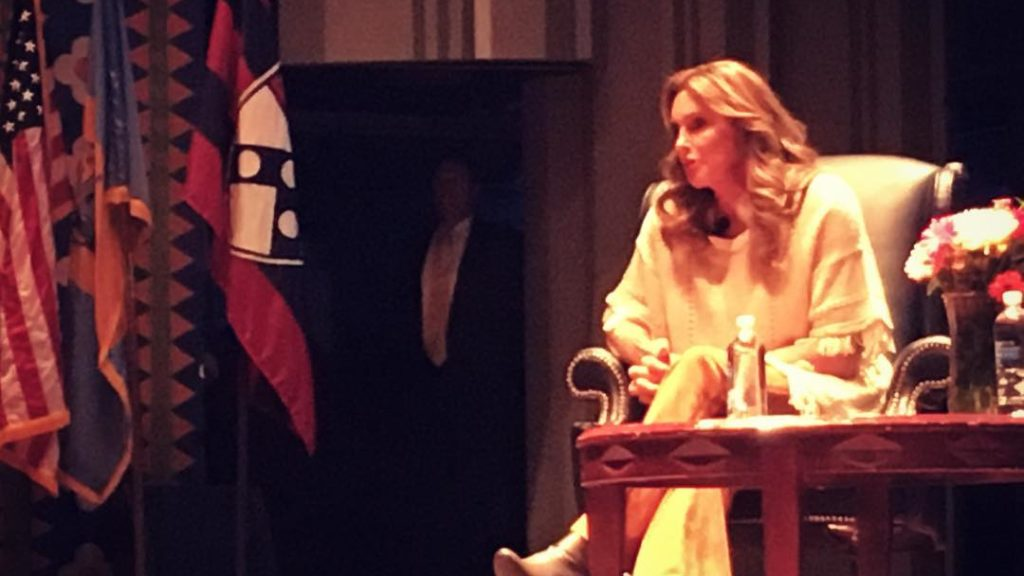 Caitlyn Jenner speaks at the University of Pennsylvania