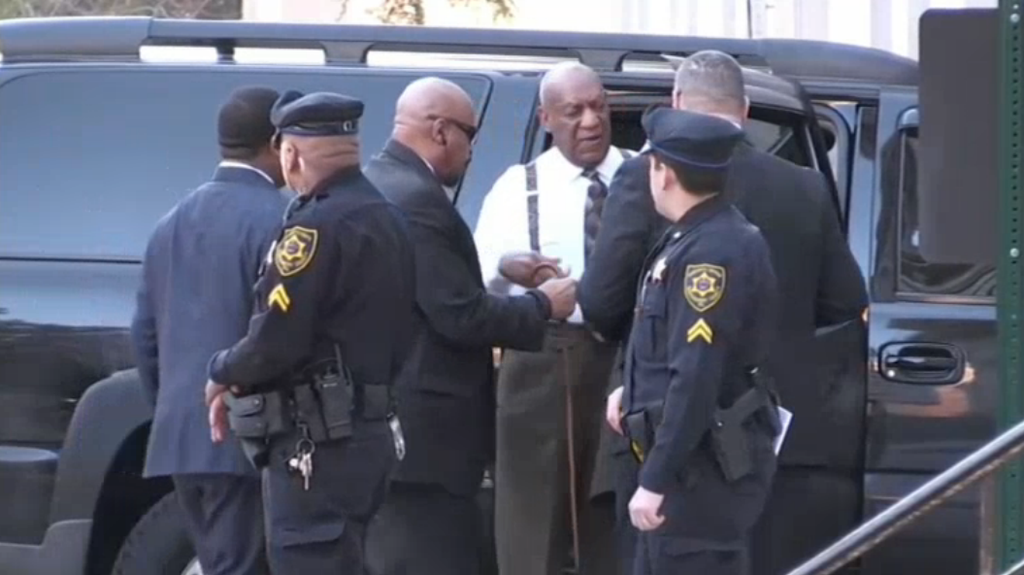 Bill Cosby arrives at the Montgomery County Courthouse in Norristown.