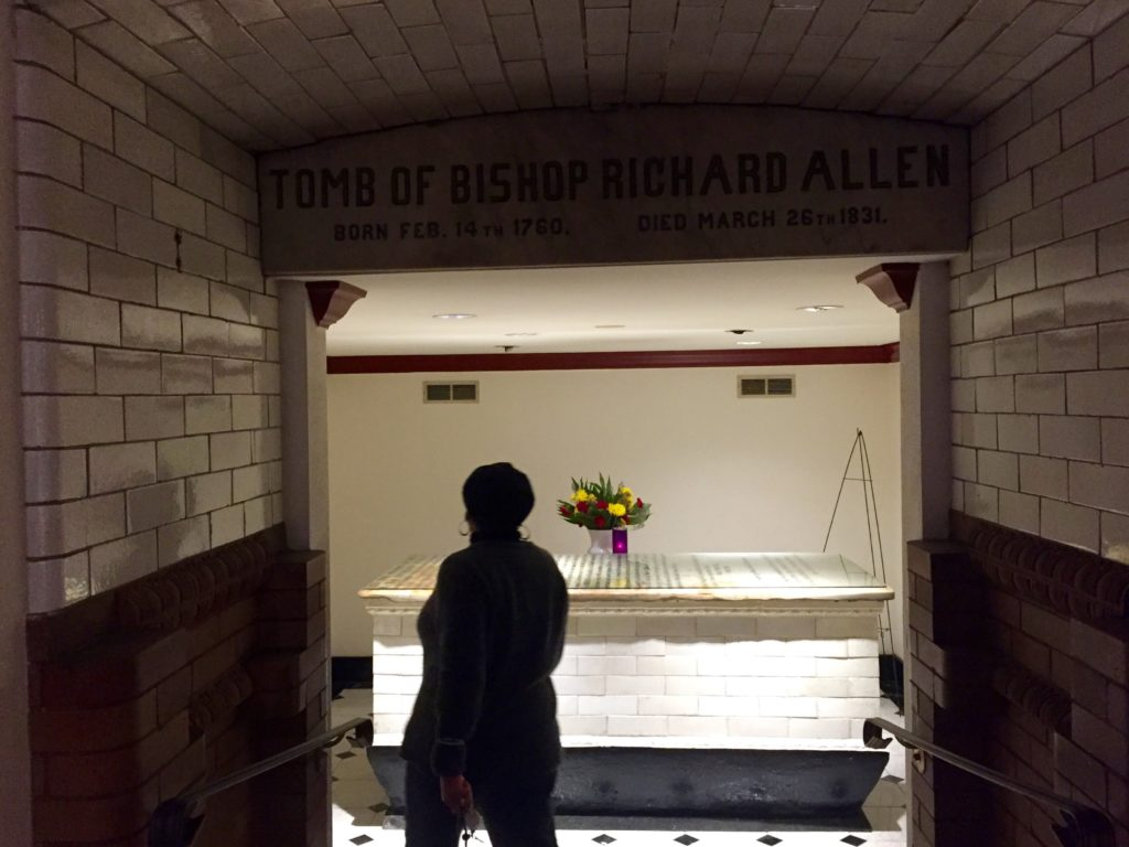 The entrance to the tomb of Richard Allen.