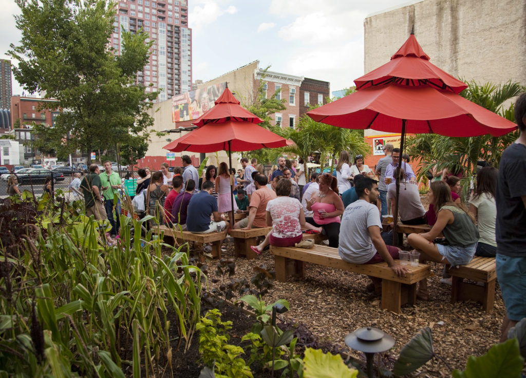 The PHS pop-up beer garden on South Street