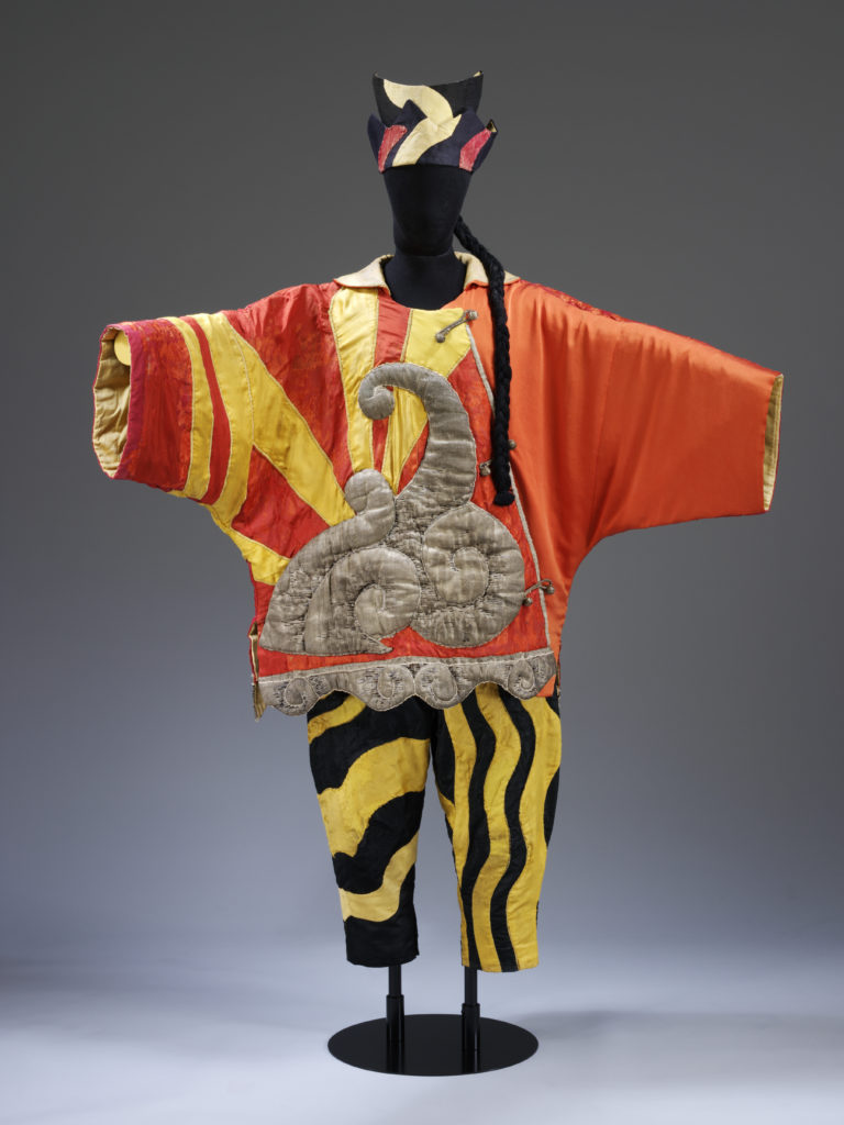The Chinese Conjurer costume in 'Parade' (1917), on loan from the Victoria and Albert Museum.