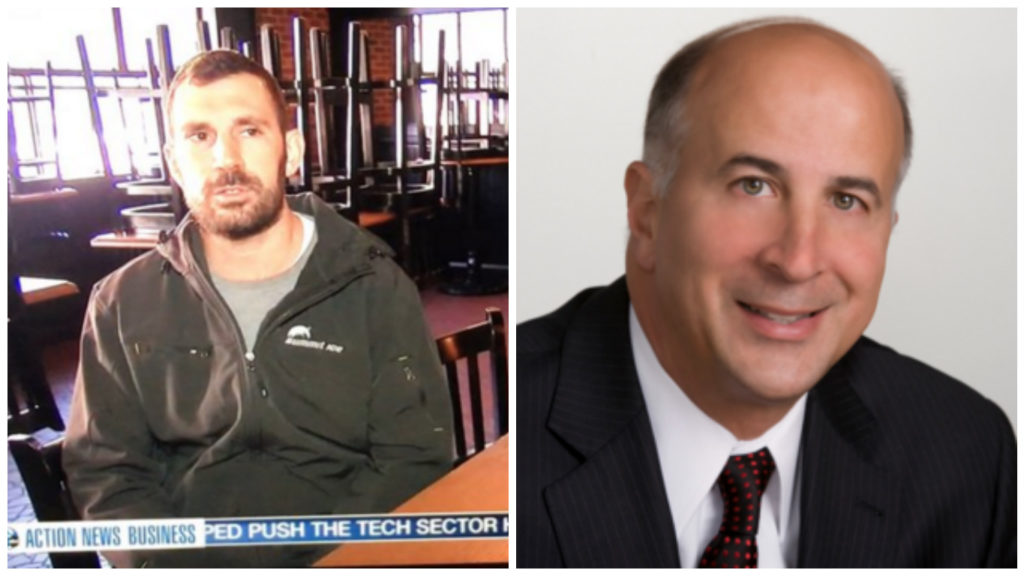 Left: Sean Agnew, of R5 Productions. Right: Philadelphia City Councilman Mark Squilla.