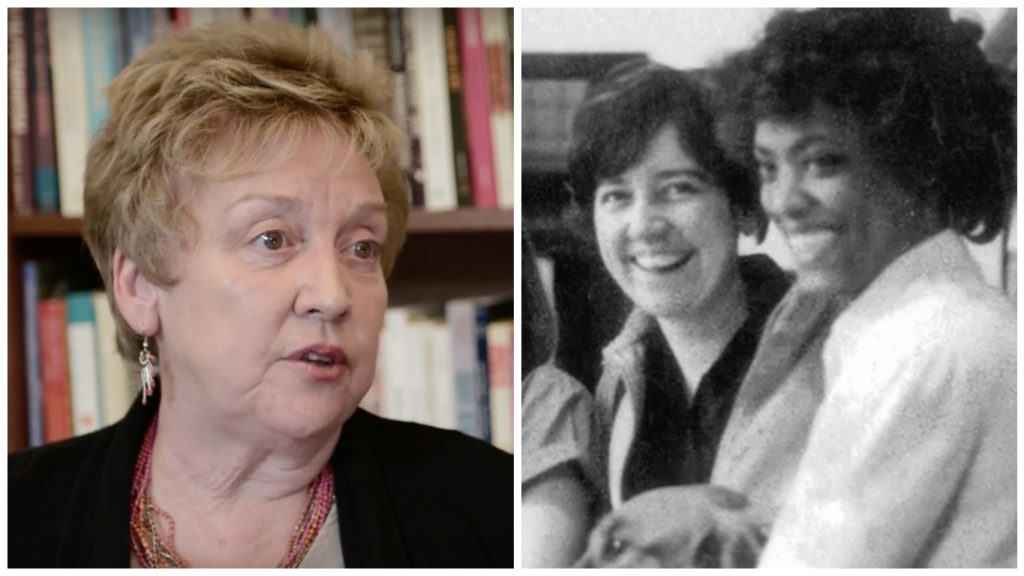 Left: Carol Tracy today Right: Carol Tracy as a student at Penn