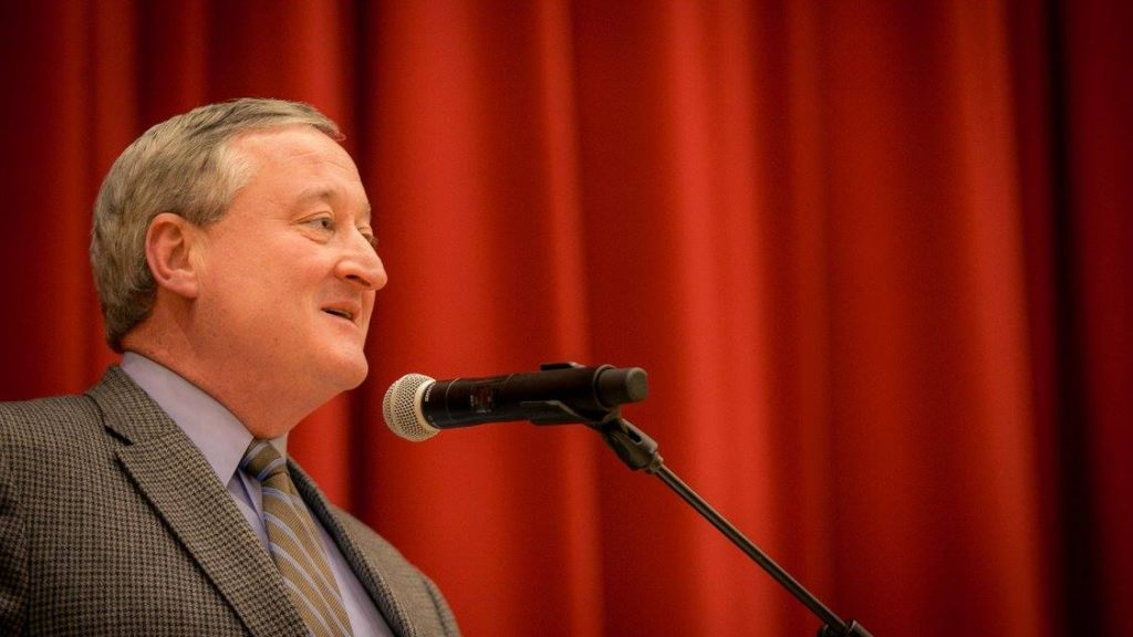 Jim Kenney, then mayor-elect, at a neighborhood town meeting.