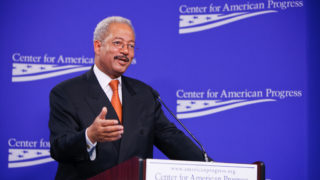 Congressman Chaka Fattah, a Philadelphia Democrat, speaks to the center for American Progress in 2010.