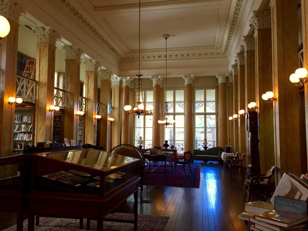The reading room inside The Athenaeum of Philadelphia.