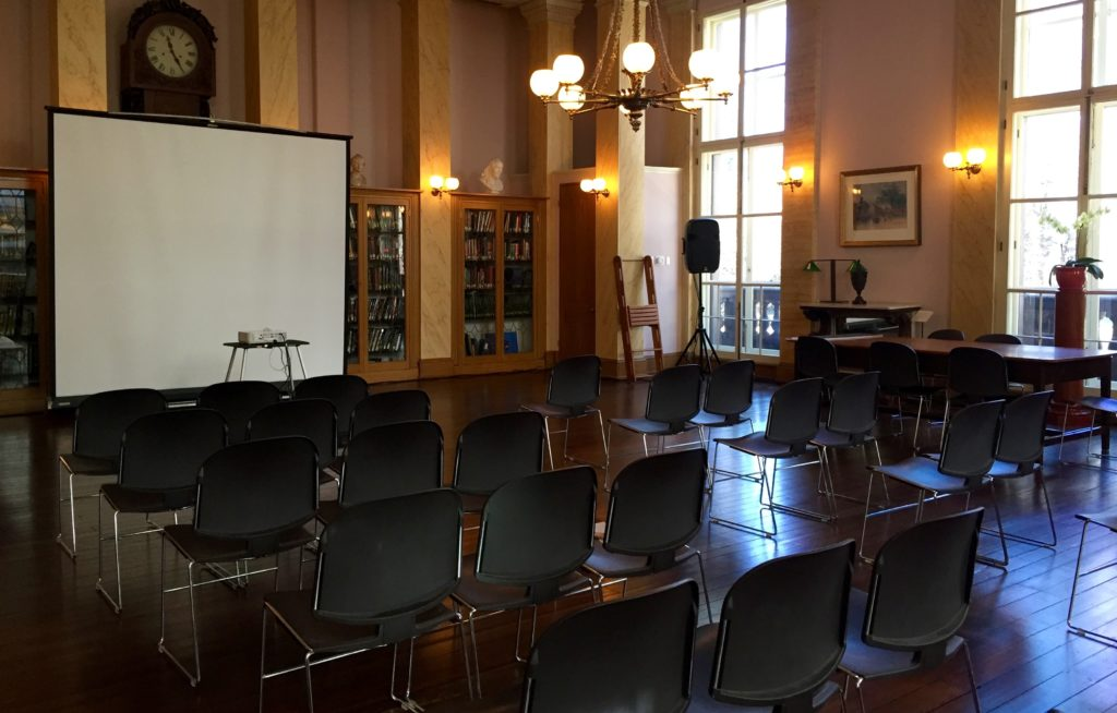 The event space upstairs at The Athenaeum.
