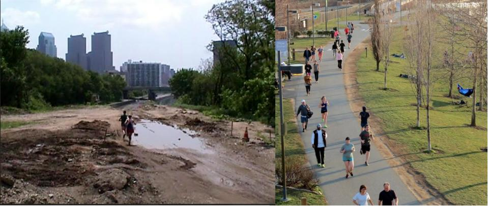Schuylkill Banks then now