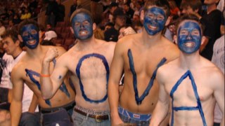 Face-painting 'Nova fans have sometimes had little reason to cheer in the NCAA Tournament.
