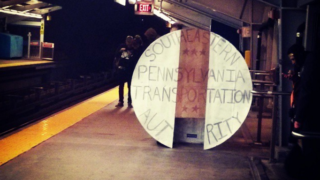Halloween costume of the way a major American city still pays for public transit in the 21st century.