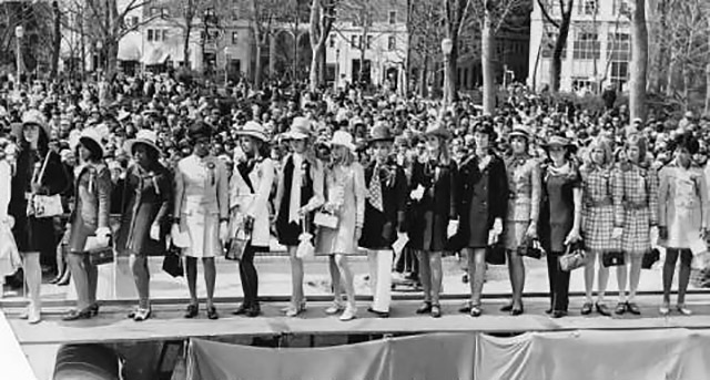 Easter fashion show in Rittenhouse Square, 1969