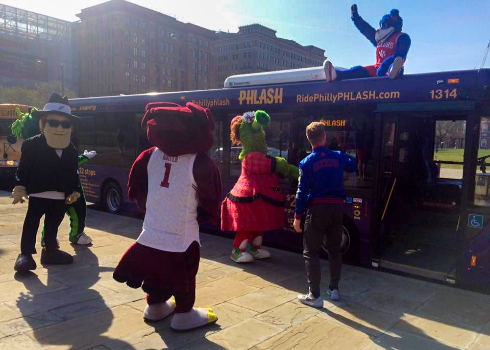Philly mascots welcome back the Phlash on its first day of the 2016 season
