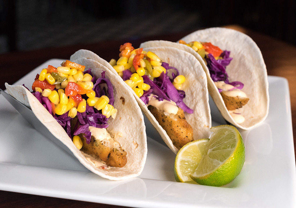 At PJ Whelihan's, sales fish dishes like these tacos more than double on Fridays during Lent
