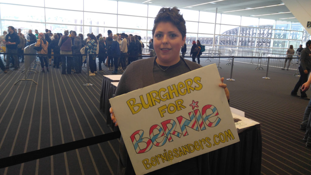 Beth Ussery of Monroeville is an organizer with Burghers for Bernie