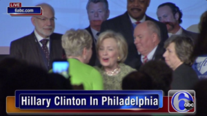 Hillary Clinton spoke about the need to strengthen the middle class and labor at the AFL-CIO convention in Philadelphia.