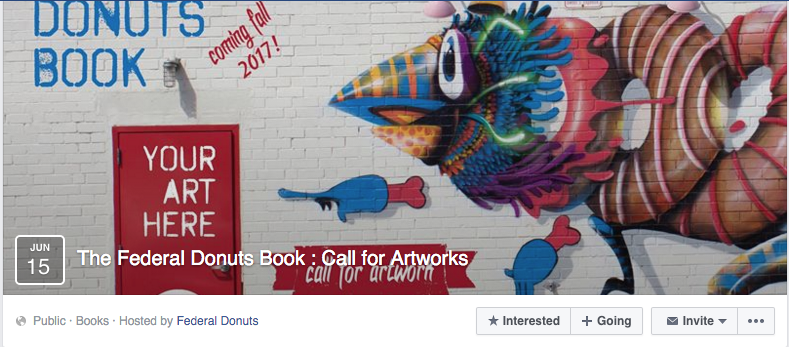 "The Federal Donuts ""Call for Artwork"" page."