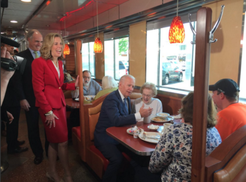 Katie McGinty went to Mayfair Diner yesterday, making her one of many candidates who favors the diner over a cheesesteak restaurant.