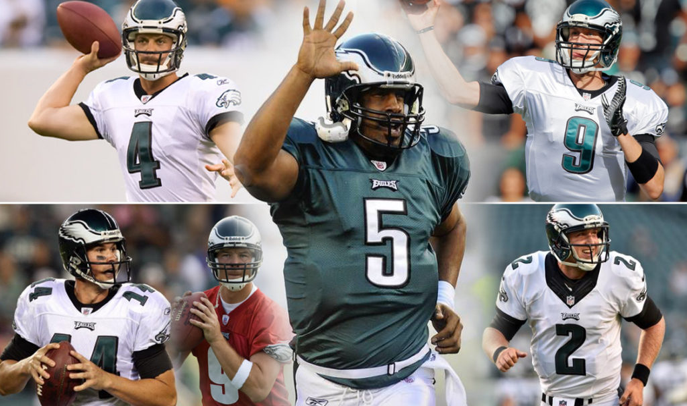 The Eagles' quarterback shuffle.