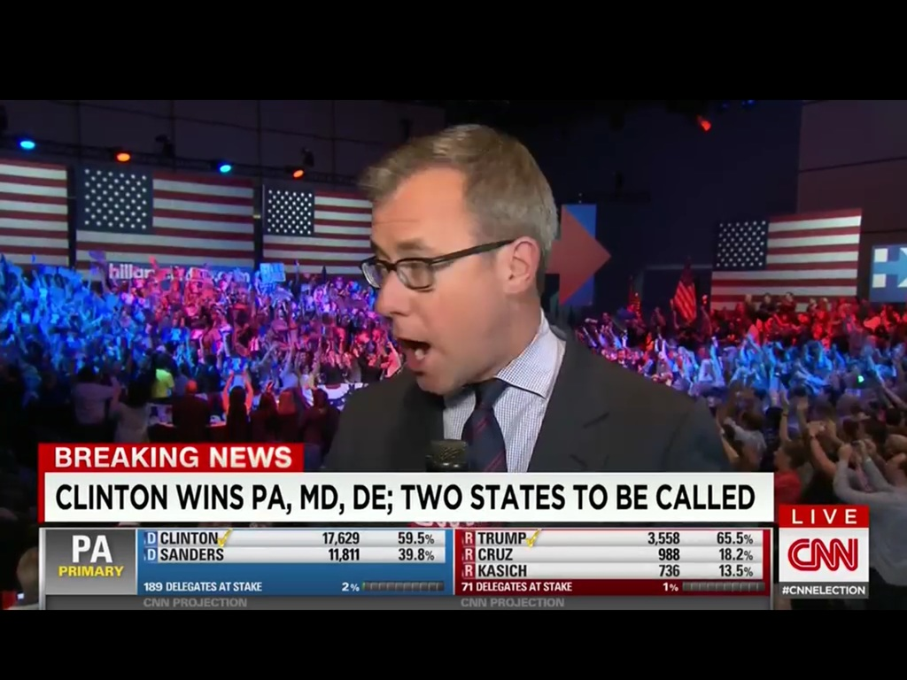 CNN reporter Jeff Zeleny live from Hillary Clinton's election event at the Constitution Center.