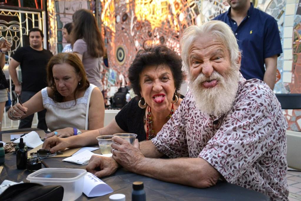 Julia and Isaiah Zagar at the Magic Gardens