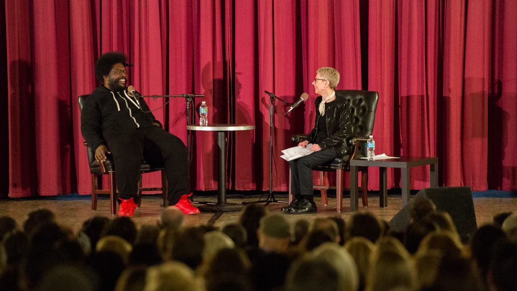 Ahmir 'Questlove' Thompson talks with Terry Gross of NPR's 'Fresh Air' at the Penn Museum
