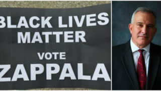 Literature floating around Philadelphia is linking Stephen Zappala, left, to Black Lives Matter.