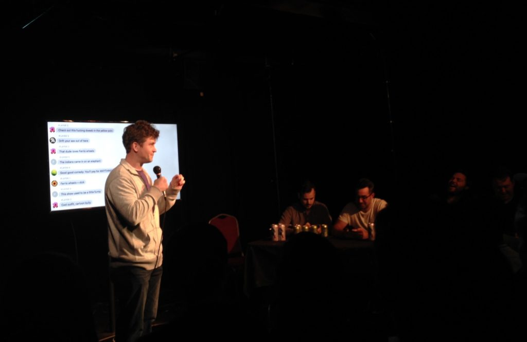 Matt McCusker, one of the shows creators, at the beginning of the show.