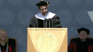 Lin-Manuel Miranda speaks at Penn.