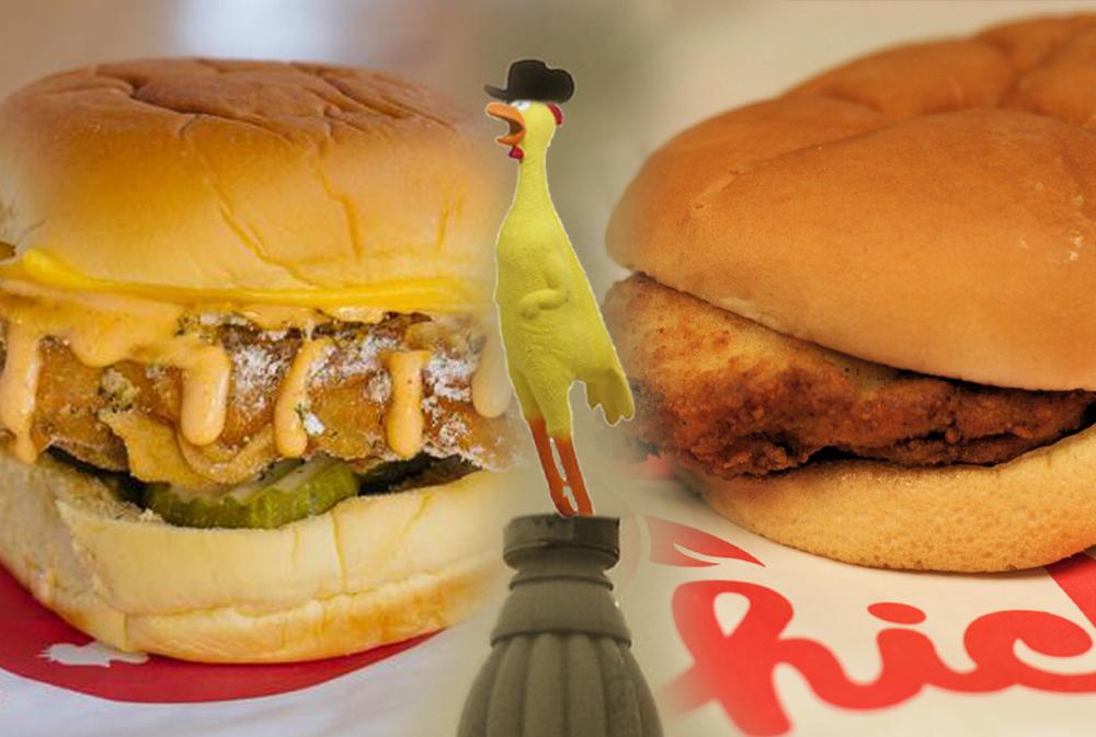 Federal donuts chicken sandwich vs. Chick-Fil-A chicken sandwich